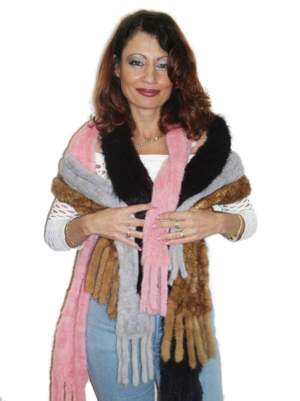 Long Lunaraine Knitted Mink Scarf by FursNewYork (Image #1)