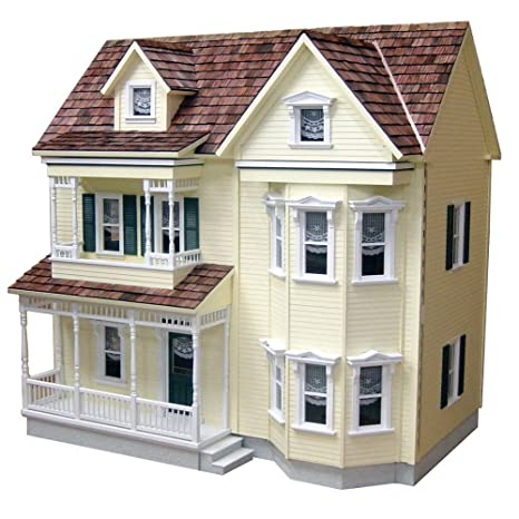 Amazon Com Real Good Toys Front Opening Country Victorian Dollhouse