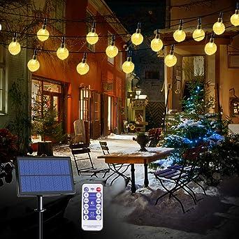 infinitoo 6M 40 LED Solar Beleuchtung Lichterk... LED Solar Lichterkette Garten