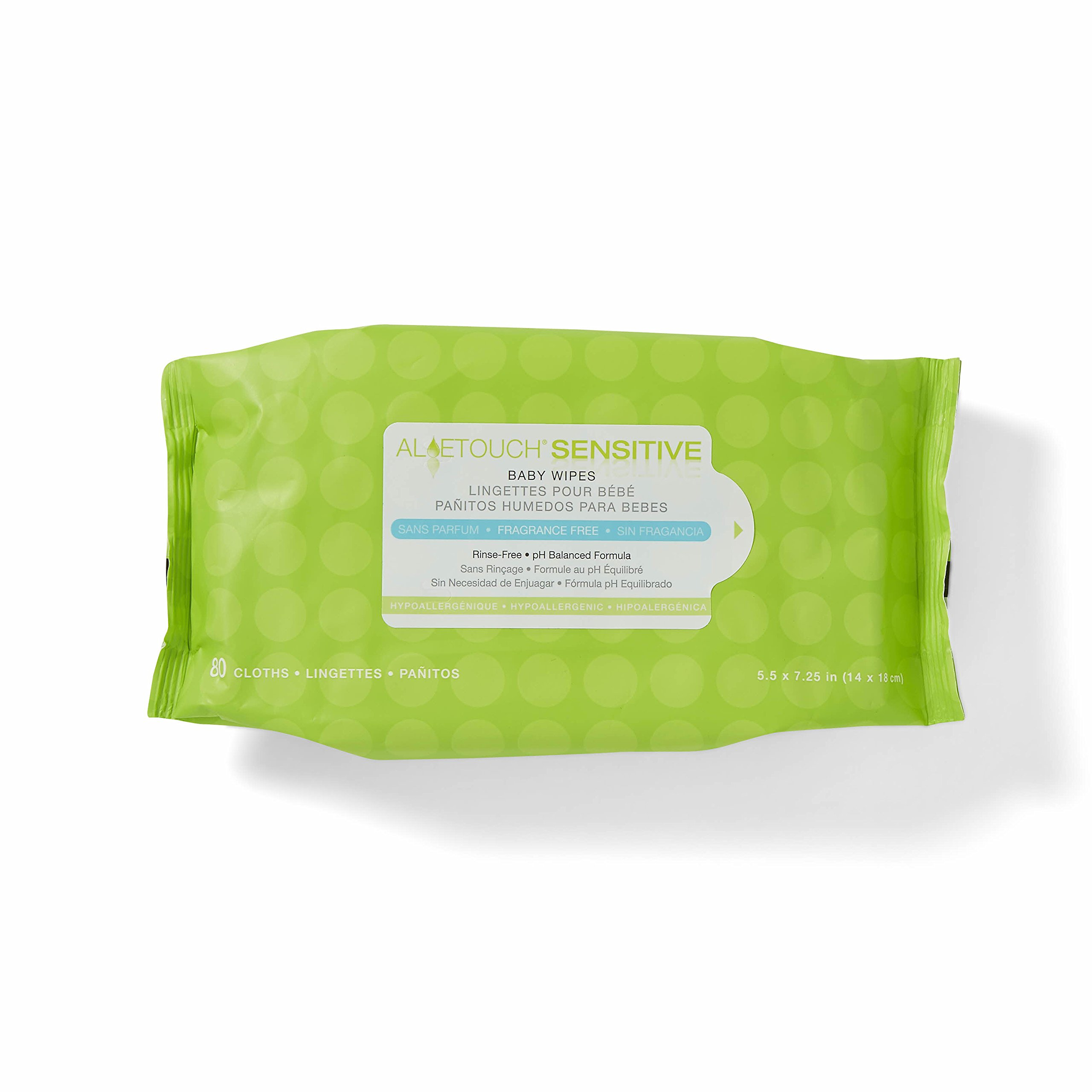 Medline AloeTouch Sensitive Baby Wipes, Cleansing Cloths, 1920 Count, Unscented, 5.5 x 6 inch Baby Wipes by Medline