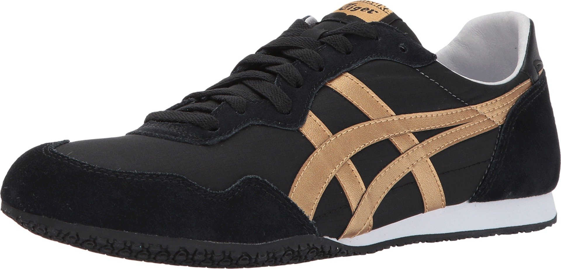 check out fe4af df800 Galleon - Onitsuka Tiger By Asics Unisex Serrano Black/Gold ...