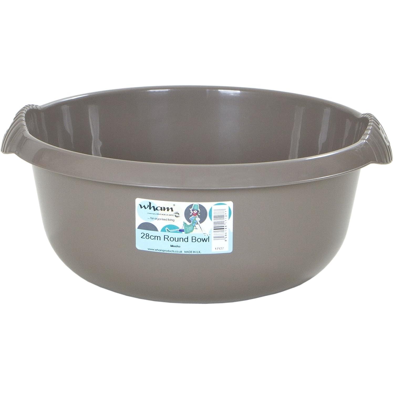 Schüssel vielseitig einsetzbar rund Durchmesser 28cm Farbe mocca • Spülschüssel Waschschüssel Plastikschüssel Kunststoff Camping Spüle H-Collection