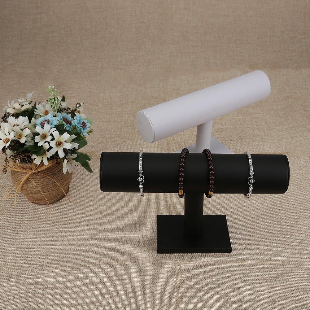Demiawaking 23cm Espositore Porta Braccialetto Gioielli Orologio Supporto Display Stand Organizzatore Rack Grigio