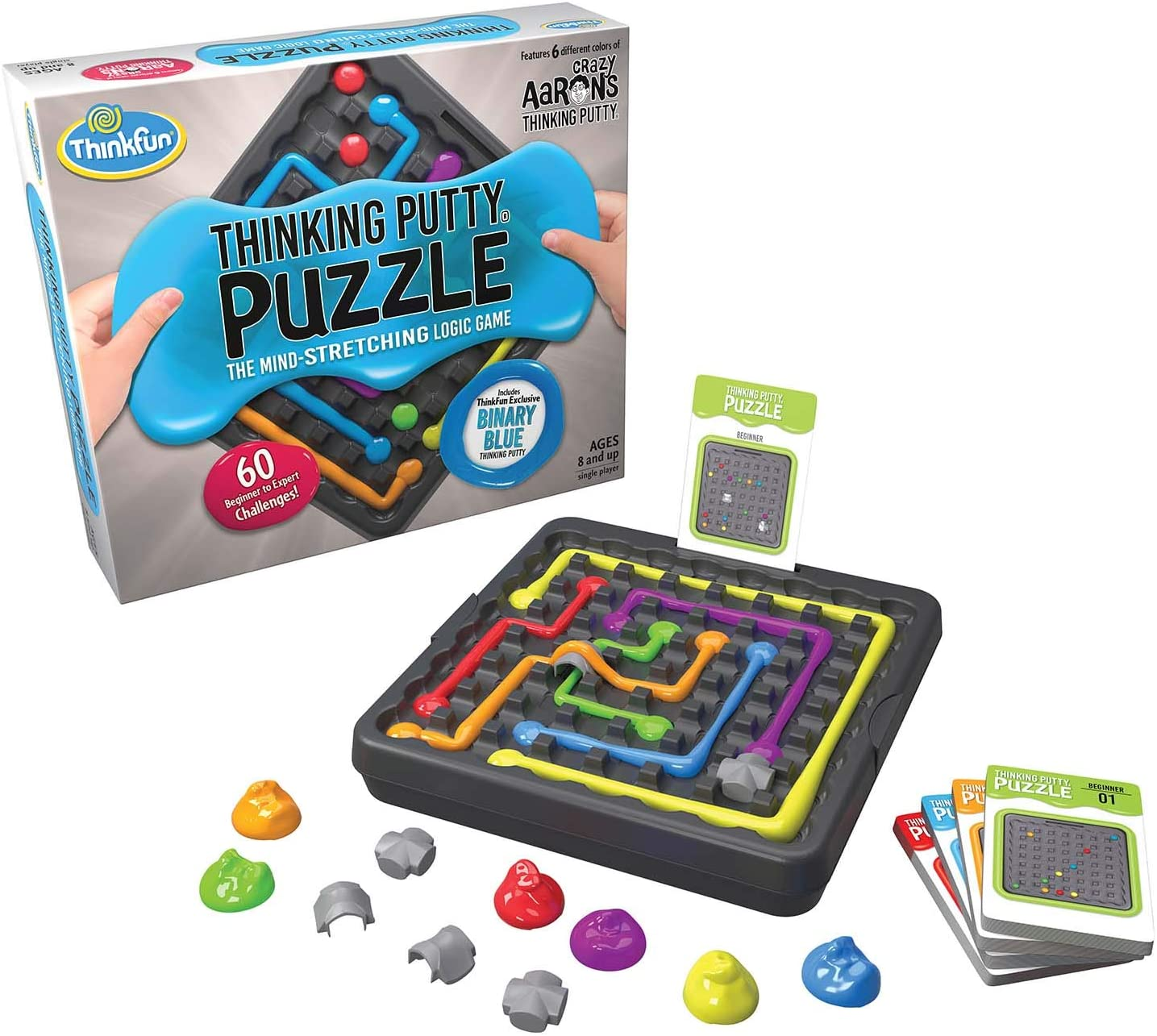 This is an image of a thinking putty puzzle logic game for boys 10+.