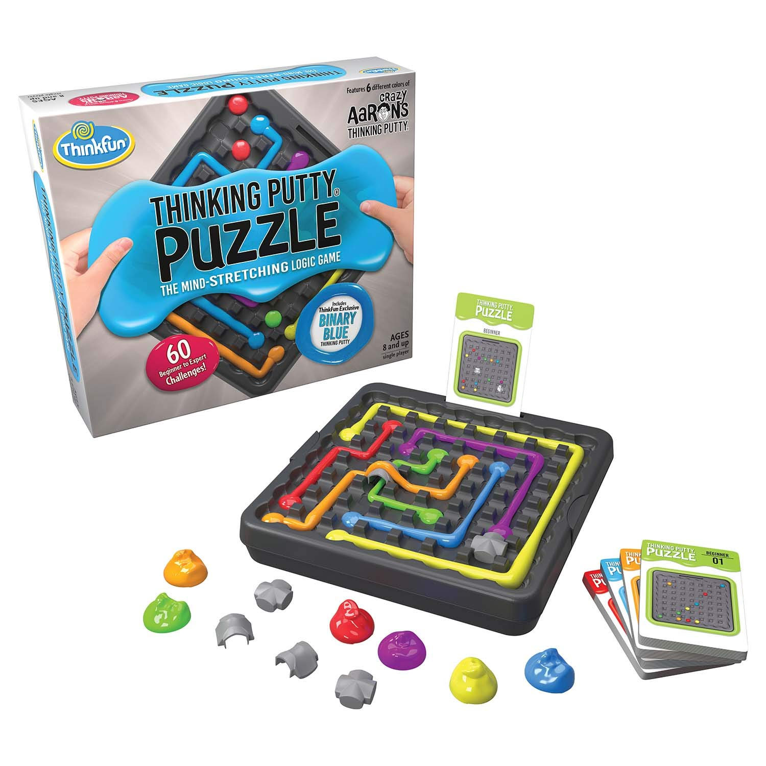 ThinkFun and Crazy Aaron's Thinking Putty Puzzle and STEM Toy for Boys and Girls Ages 8 and Up - The Famous Thinking Putty in Logic Game Form by Think Fun