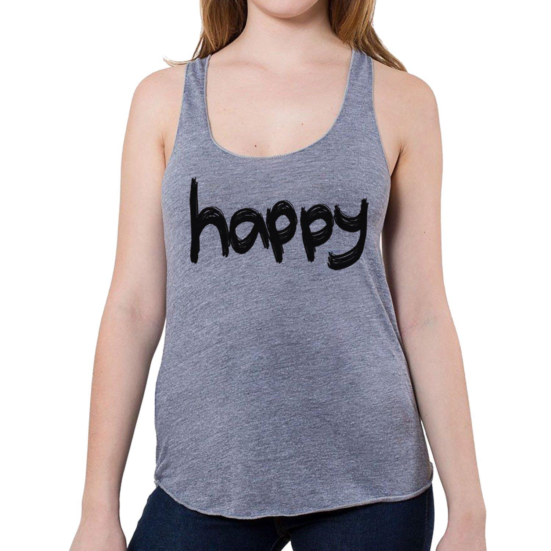 GarageProject101 Women's Happy Tank Top (Junior Size)