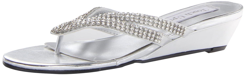 Touch Ups Women's Tango Wedge Sandal B00FYJHOZG 10 W US Silver Metallic