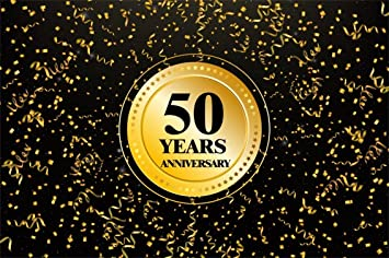 Amazoncom Csfoto 8x6ft Background For Happy 50 Years Anniversary