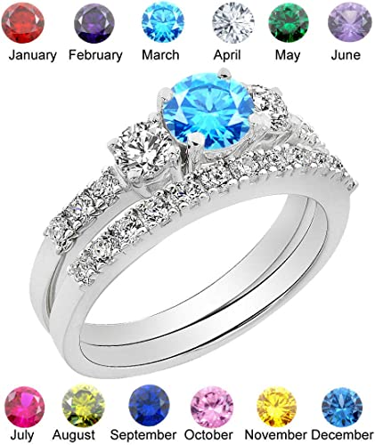 Simulated September Birthstone Sapphire CZ Womens 925 Sterling Silver Ring Sizes 5-10