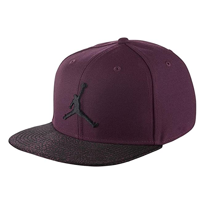 af50cc24215c7e Nike Mens Jordan Elephant Bill Snapback 834891-609 - Bordeaux Black   Amazon.ca  Clothing   Accessories