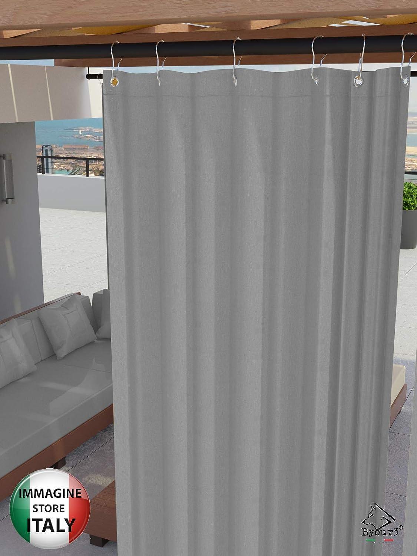 Tortola anchoX 280cm Toldos exteriores con agujeros en la parte de Arriba y los ganchos de metal Tejido antimoho repelente al agua Toldo de tela de algod/ón resinado para terrazas Gazebos Balcon