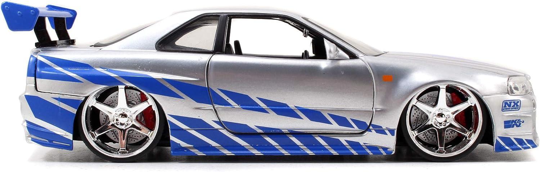Jada- Fast e Furious 2002 Nissan Skyl Modellini, Colore Argento, Echelle 1/24, 105733443 Argento