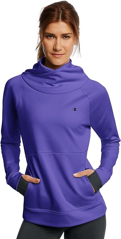 Champion Womens Performance Fleece High Collar Pullover