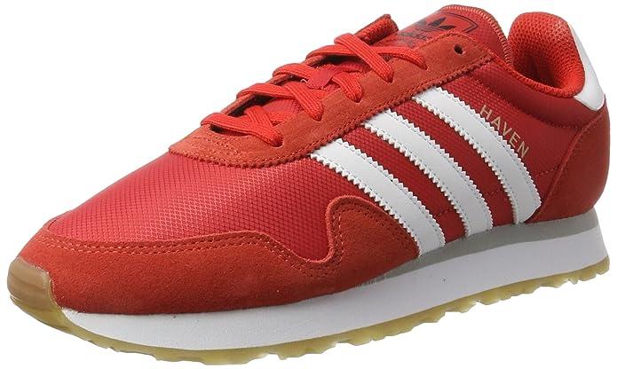 adidas Haven Schuhe Herren rot m. weißen Streifen