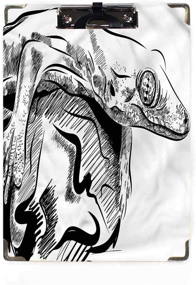 Follaje Decoraci/ón Tama/ño Carta Portapapeles Perfil Bajo Clip Hardboard Hojas Primavera Naturaleza Personalizado Lindo Hardboard Oficina Portapapeles con perfil bajo Clip para Carta Tama/ño Papel
