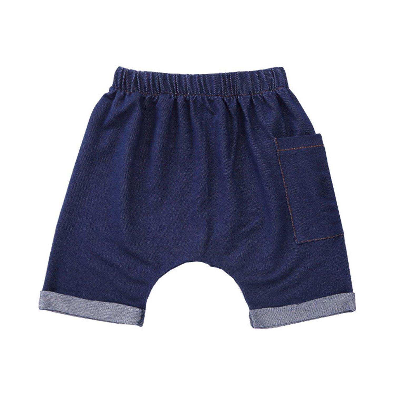 Evelin LEE Toddler Baby Denim Short Pants Summer Soft Boys Girls Jeans