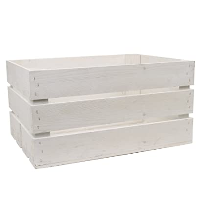 White Wash Rustic Wooden Crate