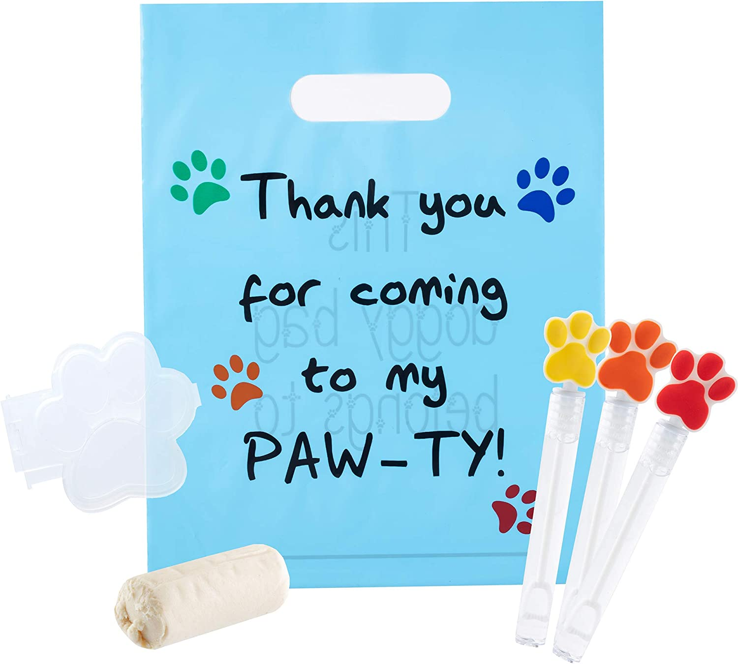 12 Dog Puppy Theme Candy Party Favor Bags  5x7  Red Girl Boy Kids BIRTHDAY  Thanks for Coming to Paw-ty  PERSONALIZED  3 Day Ship