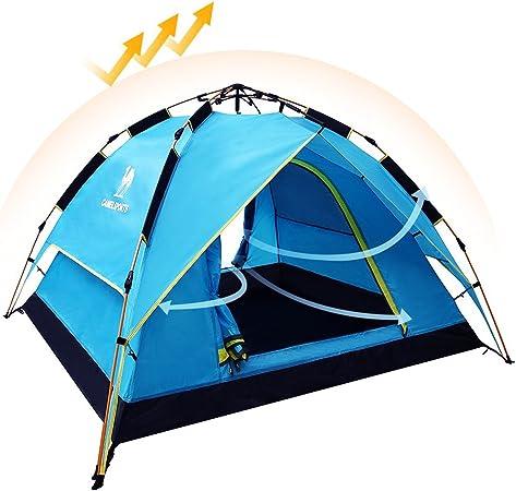 Camel Tienda Instantánea de Campaña de Apertura Automático Hidráulica UV Protección Playa Camping al Aire Libre Portátil Impermeable Ventilada y ...
