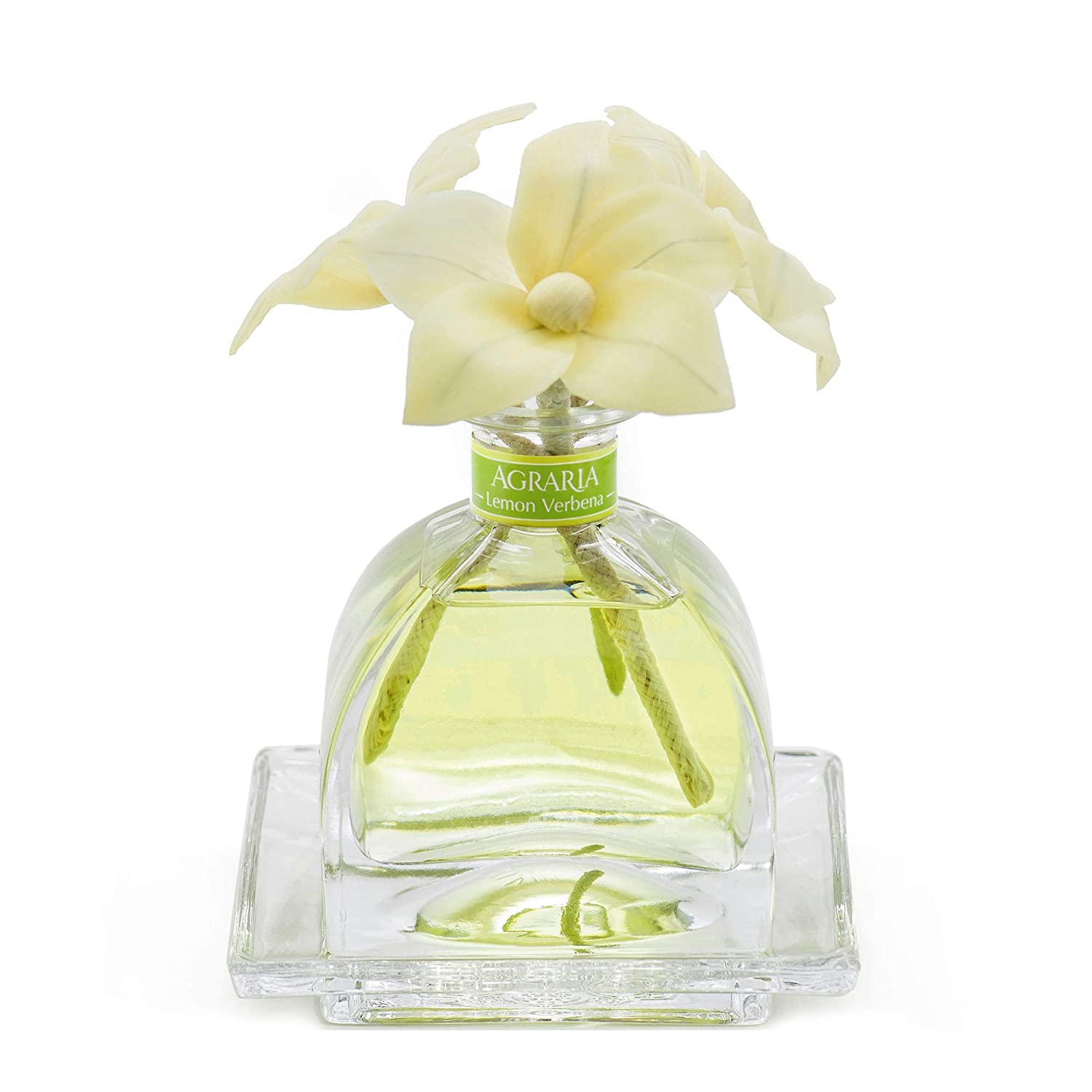 AGRARIA AirEssence Luxury Diffuser Lemon Verbena Scent, Includes 3 Sola Flowers and 20 Reeds 7.4 Ounces