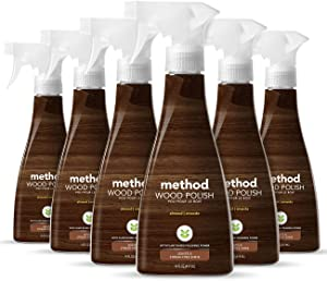 Method Wood Polish, Almond, 14 Ounces, 6 pack, Packaging May Vary
