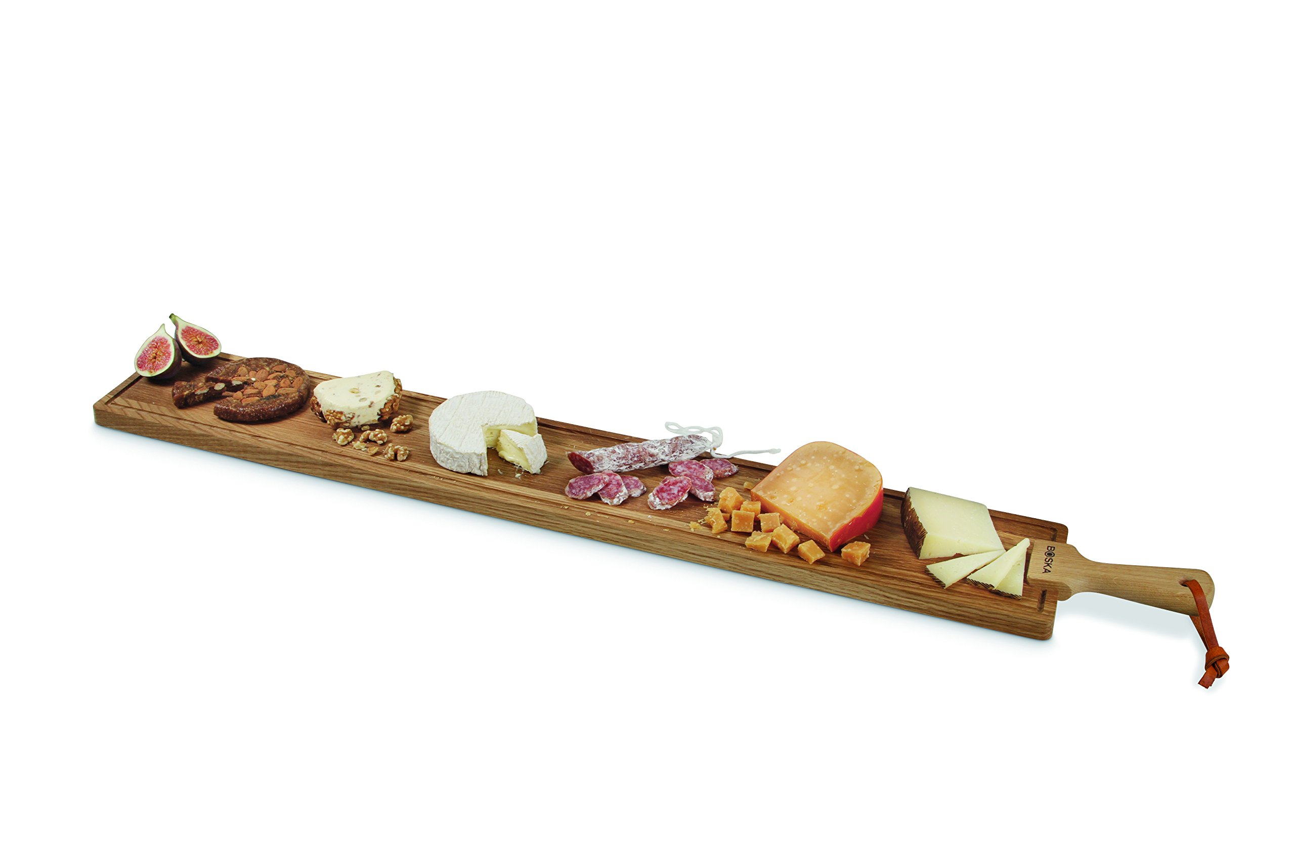 Boska Holland European Oak Wood Cheese Board, Rectangle Paddle Board, 45'' x 6'', Life Collection