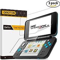[3 Unidades] OMOTON Nintendo New 2DS XL Protector