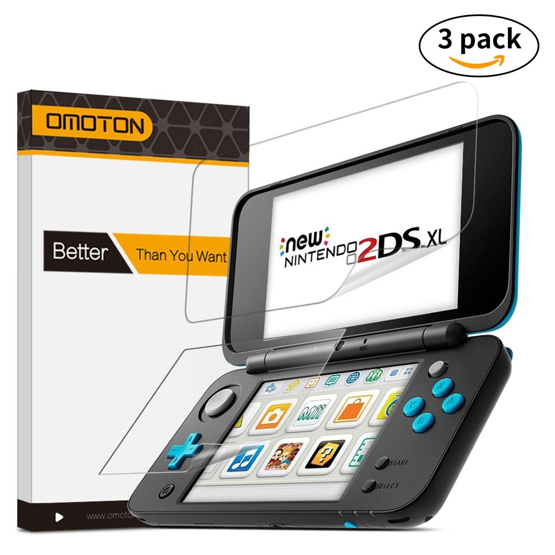 3 Unidades] OMOTON Nintendo New 2DS XL Protector de Pantalla ...