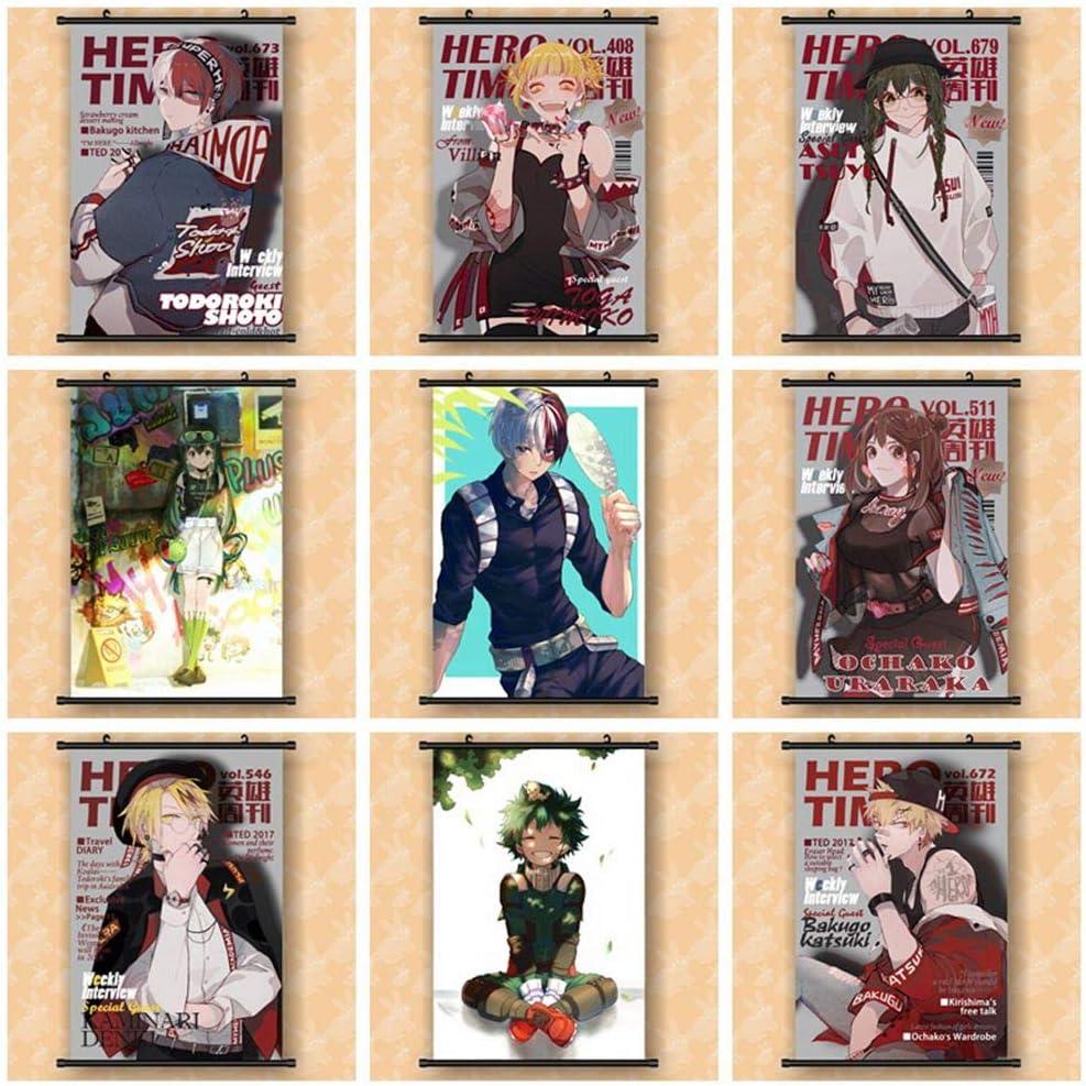 ALTcompluser Anime My Hero Academia Doujin Rollbild//Kakemono Deku Wallscroll Papier peint mural en tissu pour chambre denfant 60 x 90 cm