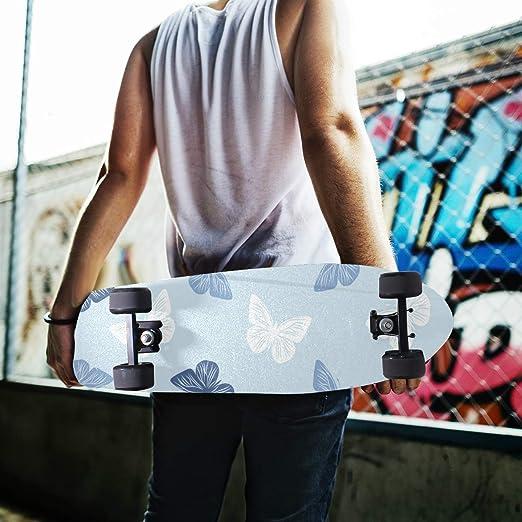 84 * 23cm 1pcs Papillon Art Grip de Skateboard Bande Grip Antid/érapante,Auto-adh/ésif Griptape de Longboard,sans Bulles,Peut /êTre Coup/é