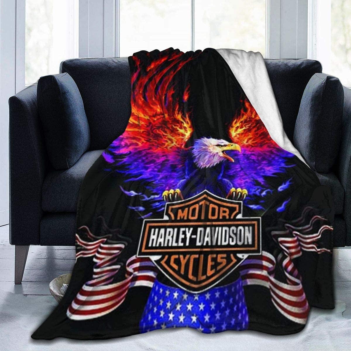 HAR-Ley David-Son Ultra-Soft Micro Fleece Blanket