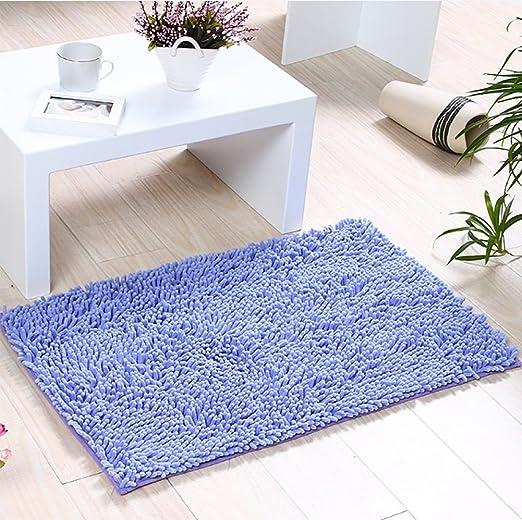 Alfombras de Baño, Alfombrilla de Baño Antideslizante Microfibra Suave Alfombra Lavar a Maquina Adecuado para Sala de Estar/Cocina / Dormitorio de Interior/Exterior (Púrpura): Amazon.es: Hogar