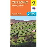 ORDNANCE SURVEY Explorer OL 30 Yorkshire Dales (Northern & Central Area) Map