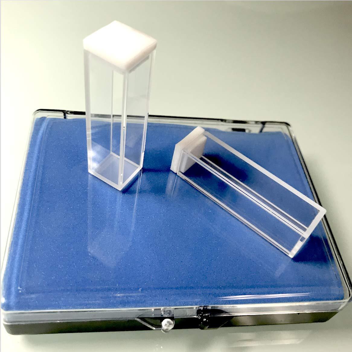 UV Quartz Cuvettes (Pathlength: 10 mm; Chamber Volume: 3.5 ml; Four-Sided Windows) (Qty: 2) by Alpha Nanotech Inc.