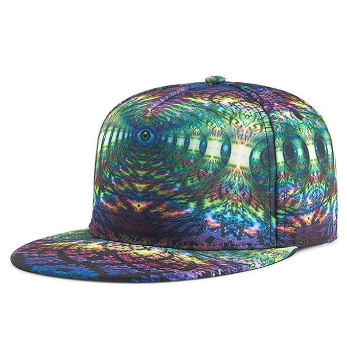 94230c798 ZARLLE Gorras Beisbol Hombre Mujer Sombrero De Snapback Plano Al Aire Libre  Flor Hip-Hop