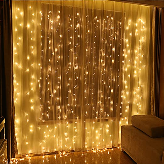 Led string lights curtain lights speclux 300leds 8 modes indoor led string lights curtain lights speclux 300leds 8 modes indoor outdoor window curtains string lights aloadofball Image collections