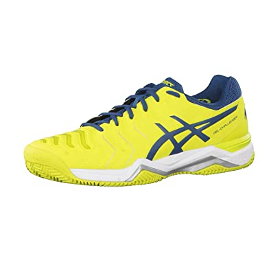 Asics Gel-Game 6 Clay, Chaussures de Tennis Homme, Blanc (White/Directoire Blue/Silver), 44 EU
