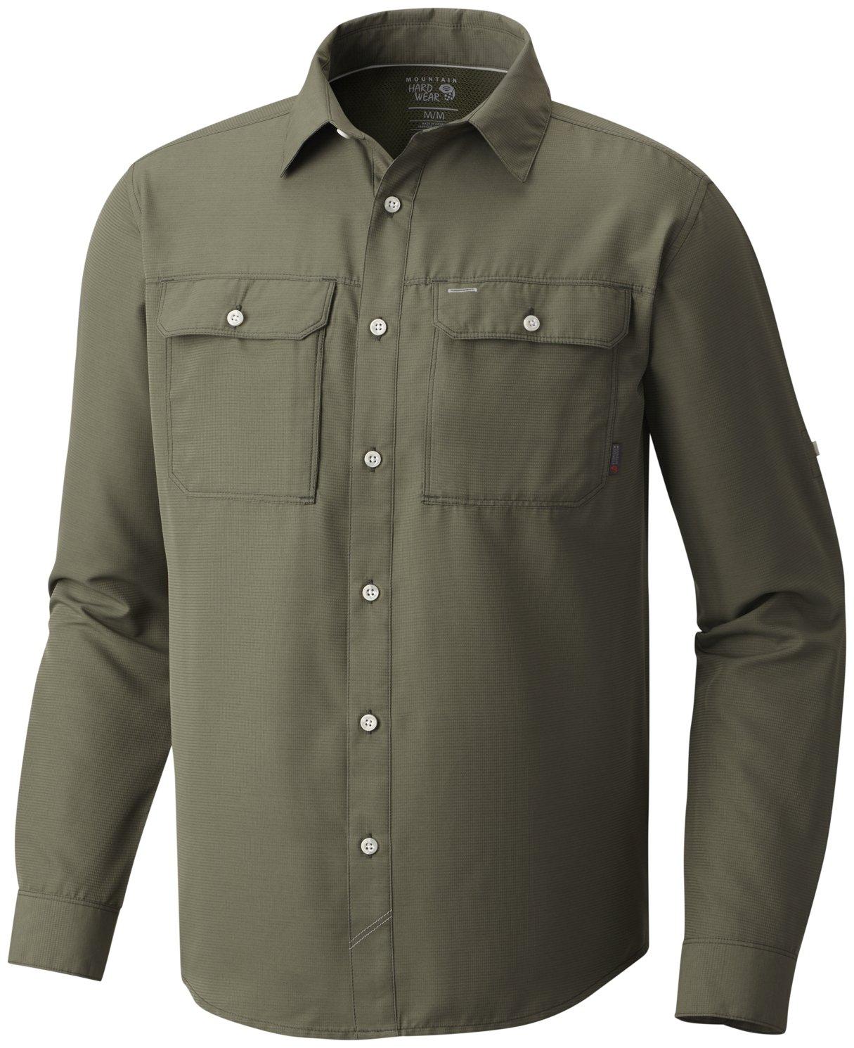 Mountain Hardwear Canyon Long Sleeve Shirt - Men's Surplus Green Large