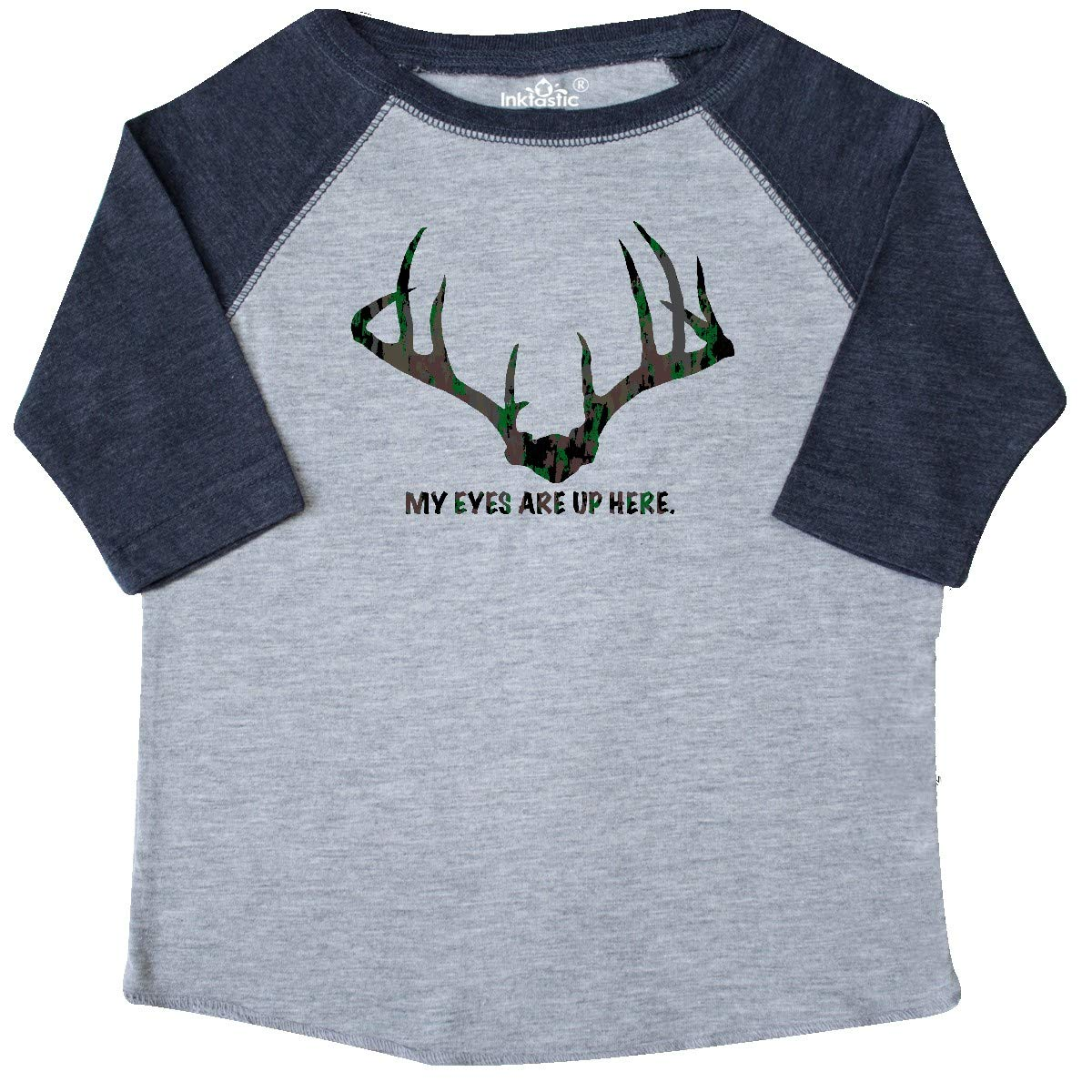 inktastic My Eyes are Up Here in Camo Toddler T-Shirt