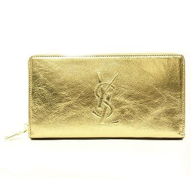 46debf9561 Yves Saint Laurent YSL Metallic Gold Leather Belle Du Jour Zip Around  Wallet 352904  Amazon.co.uk  Shoes   Bags