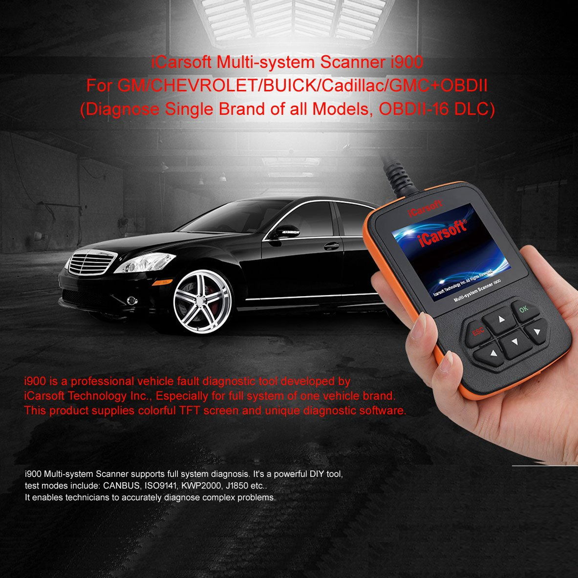 iCarsoft i900 General Motors Gm Obd2 Car Truck Diagnostic Scanner Tool  Reset Erase Fault Code