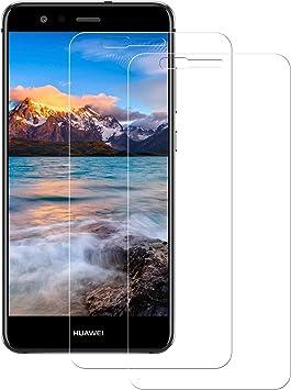 POOPHUNS Cristal Templado Huawei P10 Lite, 2-Unidades Protector de ...