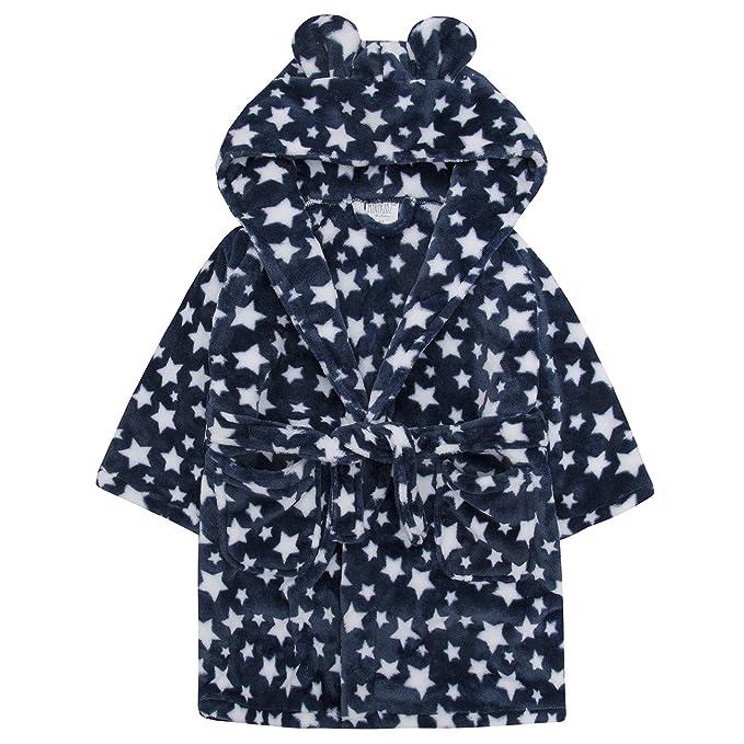 niña azul estrella Bata Suave Capucha Con Orejas Polar Albornoz Bata Regalo Navidad Regalo 2-6 AÑOS - Azul Estrella, 3-4 YEARS: Amazon.es: Ropa y accesorios