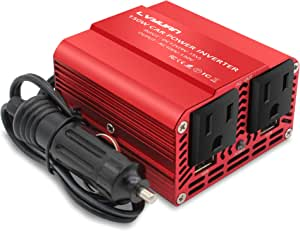 Cantonape 150W Power Inverter for Car DC 12V to 110V AC Car Inverter Converter with 3.1A Dual USB Charger Car Adapter