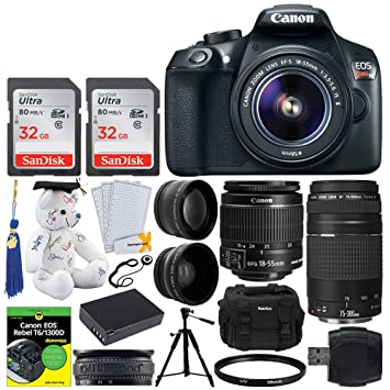 Amazon.com: Canon EOS Rebel T6 DSLR Cámara + 0.709-2.165 in ...