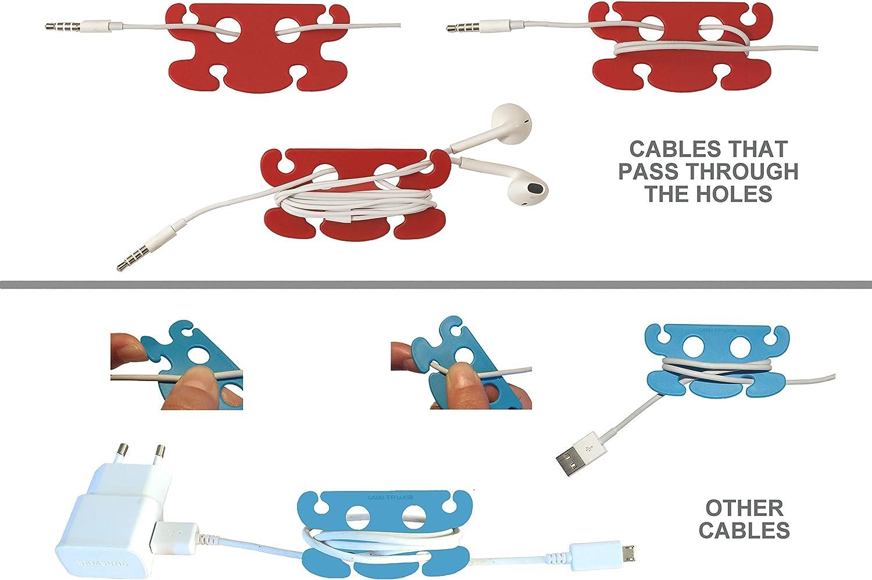 01 Cord Wrap Keeper Cavo di prolunga Wrap Hook Loop Organizer Cable Wrap Straps Cinghie di stoccaggio Supporto per Cavo di prolunga Organizzazione per Cavi di prolunga