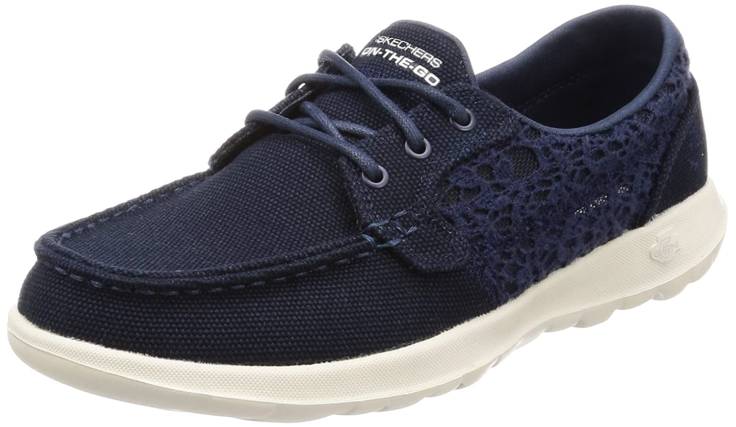 Skechers Women's Go Walk Lite-15431 Boat Shoe B076TCBPYS 11 B(M) US|Navy