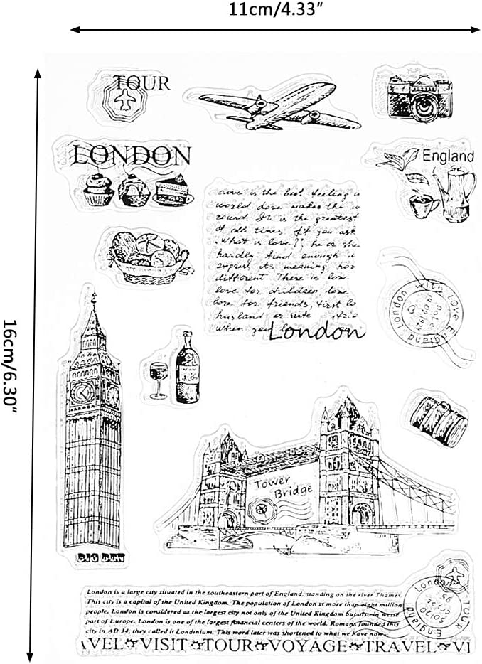 Tower Of London Transparente Silikon Clear Stamp Cling Tagebuch DIY Scrapbooking