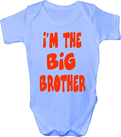 I/'m The Big Brother Babygrow Vest Baby Clothing Funny Gift