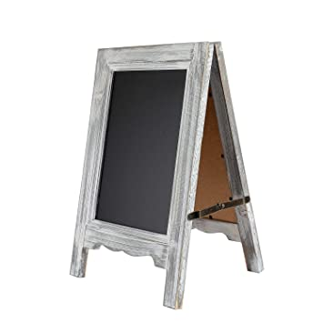 Amazoncom 15 Inch Mini Tabletop Wooden A Frame Double Sided Slate
